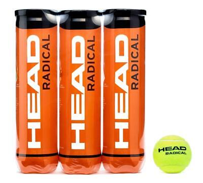 Palle da Tennis, Confezione Tripla (12 Palle in totale) Head Radical