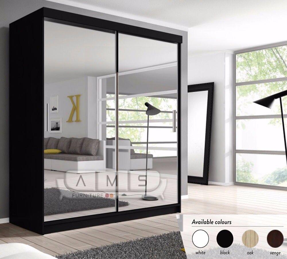 🔥💥❤2018 NEW ARRIVALS💗💖❤ Brand New German Full Mirror 2 Door Sliding Wardrobe w/ Shelves, Hanging
