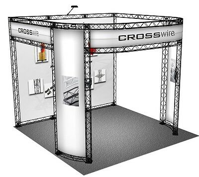 10x10 Trade Show Truss Display Exhibit Truss Stand Crosswire Exhibits X-10 X-15