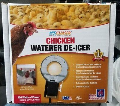 Farm Innovators C-50P Utility Chicken Waterer De-Icer, 150W