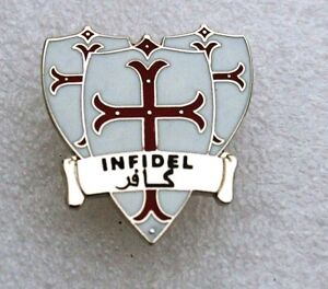 Infidel, Knights Templar EDL / BNP NEW ENAMEL PIN BADGE