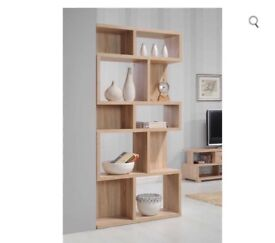 Tall Wide Shelf Unit - Oak