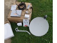 Free to air Satellite kit, Tevion. Ideal for camper/Caravanning but also at home. Dish & Wall
