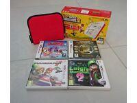 Nintendo 2DS, Official Charger, Official Case, Mario Kart 7, Luigi's Mansion 2, Super Mario Bros 2..