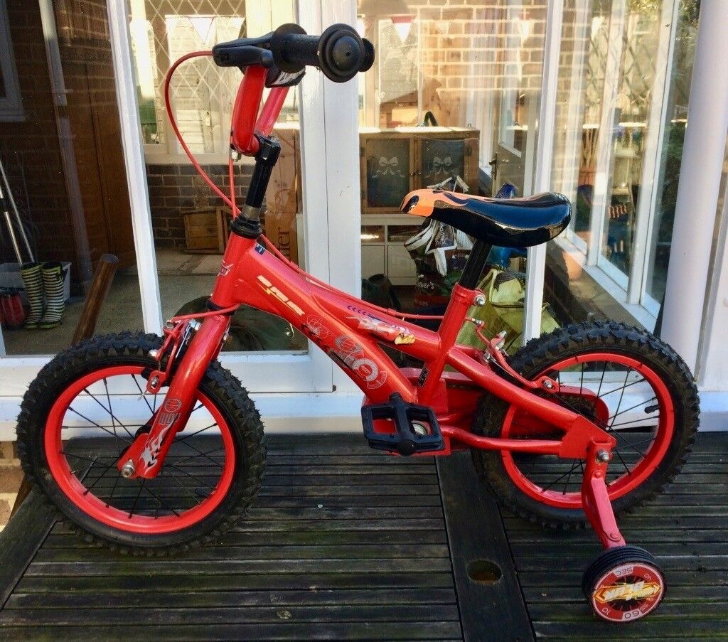 Childs bike. 14 inch wheels suit 4-6 years.