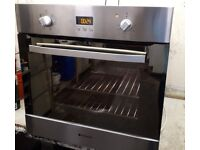 HOTPOINT STAINLESS STEEL FAN OVEN. VERY CLEAN.INSIDE AND OUT.