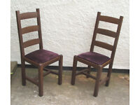 Two - Solid Wood - HQ - Dining Chairs