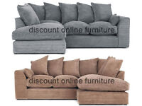 NEW DYLAN JUMBO MOCHA CORNER SOFA | 1 YEAR WARRANTY | EXPRESS DELIVERY ALL UK | SPRING BASE