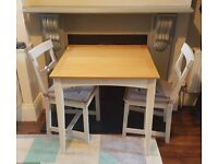 Extendable Wood Table and Chairs