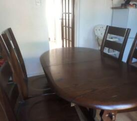 Dinning table and chairs Mahogany wood