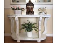 ornate hall console telephone table
