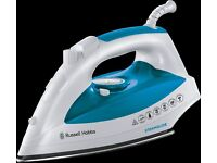Russell Hobbs 21570 Steamglide iron, 2400W, blue and white (NB steam button not working)