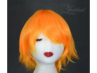 Short orange wig, greate cosplay wig