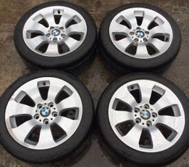 "17"" Genuine BMW 3 Series E90 E91 Alloy Wheels & Tyres 225/45R17 5x120 Fits 1 Z3 Z4 4 VW T5 Transport"