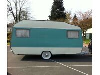 Unique rare lightweight retro vintage caravan