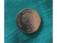 Old Twenty Pence Coin