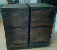 VERY NICE TWO MATCHING WOODEN END TABLES!