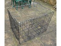 Black Dog / Cat Cage - fully collapsable