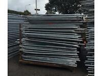 🌞 •Used• Heras Style Temporary Metal Fence Panels ~ Site Security Fencing