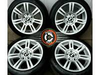"17"" Genuine BMW M Sport alloys staggered fitment, good condition, matching premium tyres."