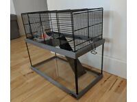 NEW UNUSED FERPLAST Gabry 50 Gerbil Glass Cage,Accessories, small , glass bottom, easy clean