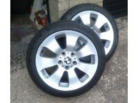 "Bmw 17"" alloys with run flat tyres"