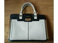 Colour block large handbag