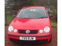 """Vow polo E , 03 plate in red"""" LOW MILEAGE """""""