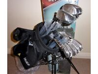 Golf clubs full 17 piece set with stand bag. BNIB still shrink wrapped.