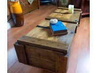 rustic coffee table trunks/coffee tables