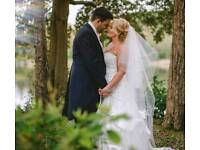Ivory Veil with swarvoski scattered crystals soft tule chapel length