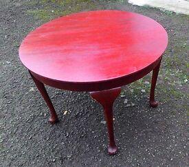 Sturdy Vintage Circular Coffee Table
