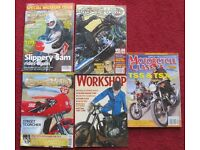 VINTAGE - 5 MOTOR CYCLE MAAZINES, SPECIAL MUSEUM ISSUE, MOTORCYCLE CLASSIC,CLASSIC BIKE,WORKSHOP