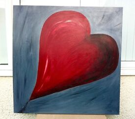 Orignal Large contemporary Heart abstract painting