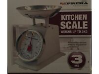 3KG Traditional Weighing Kitchen Scale Cream