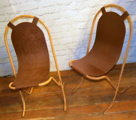 18 available Sebel Stak-a-Bye industrial metal chairs vintage restaurant stacking kitchen garden