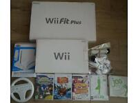 Nintendo wii complete console with 4games wii fit board wii wheel wii stand