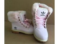 Brand New Ladies/Girls Pink Adidas Boots Size 4 -5 - 6 & 7
