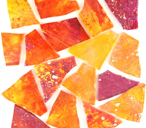 100 pieces of SUNSET Mosaic Glass by Makena Tile