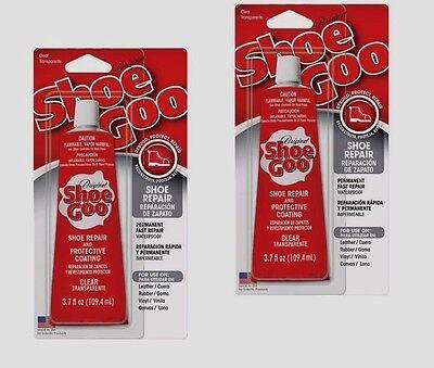 Set Of 2 Shoe Goo Shoe Skate Repair Glue 3.7oz Clear Adhesive Protective Coating