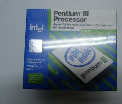 Intel Pentium III BX80526U667256ESL3ND SL3ND  667 133 1.65V  CPU  NEW