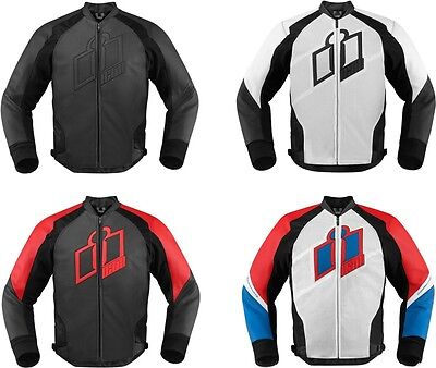 Icon mens Hypersport Leather Motorcycle Riding Jacket With D30 Armor