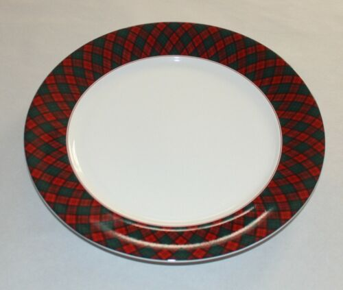 Arita Tartan Plaid Round Platter 4030932 ( NEW OTHER)