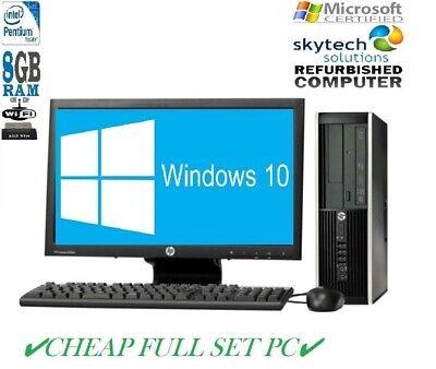 Kompletter Dell / hp Dual Core Desktop Tower PC & TFT Günstig Computer