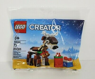 New Sealed in Bag LEGO 40434 Creator Christmas Holiday Reindeer 77 pieces NIP