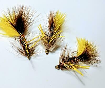 6 #4 Conehead Brown Rubberleg Wooly Bugger Streamers Flies Fly Half Dozen