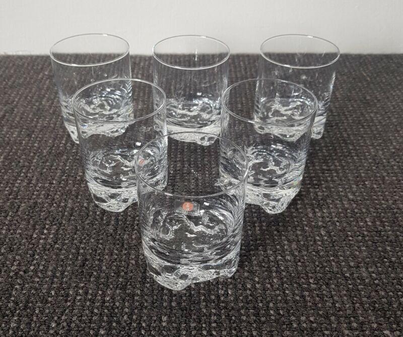 🔶️MCM 6 IITTALA GLASS GAISSA TAPIO WIRKKALA WHISKEY GLASSES DANISH MODERN RETRO