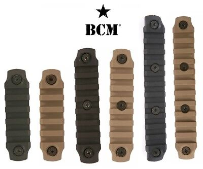 Bravo Company Bcm Kmod Or Mlok Nylon Picatinny Rail 5  7 Or 11 Slot Black Or Fde