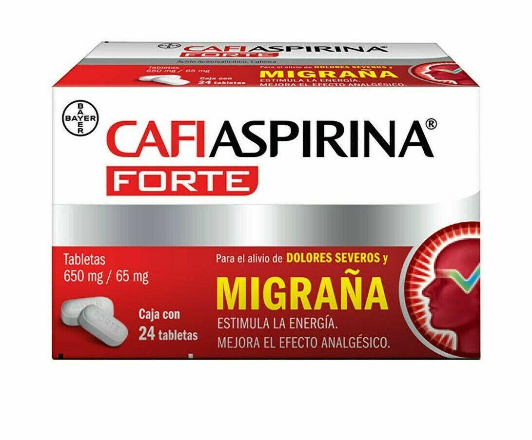 CafiAspirina Forte -  Dolor Cabeza , migraña / Headache- 24 tablets