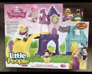 BNIB FISHER PRICE LITTLE PEOPLE DISNEY PRINCESS TOWN SQUARE